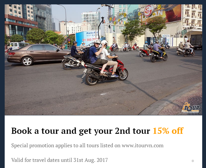 Book a tour and get your 2nd tour 15 off