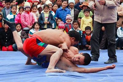 festivals and public holidays in vietnam wrestling festival