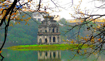 one month vietnam itinerary hanoi ho guom sword lake