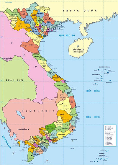 one month vietnam itinerary vietnam map