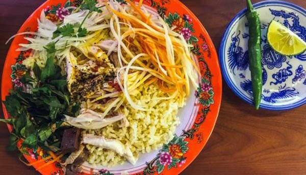 rice dishes in vietnam com ga hoi an