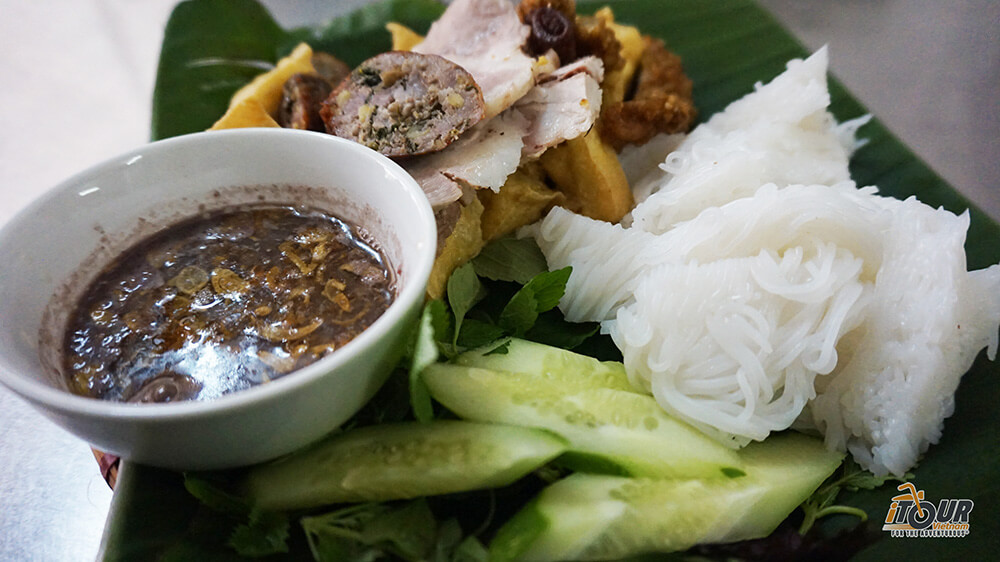 food tours northern vietnam bun dau