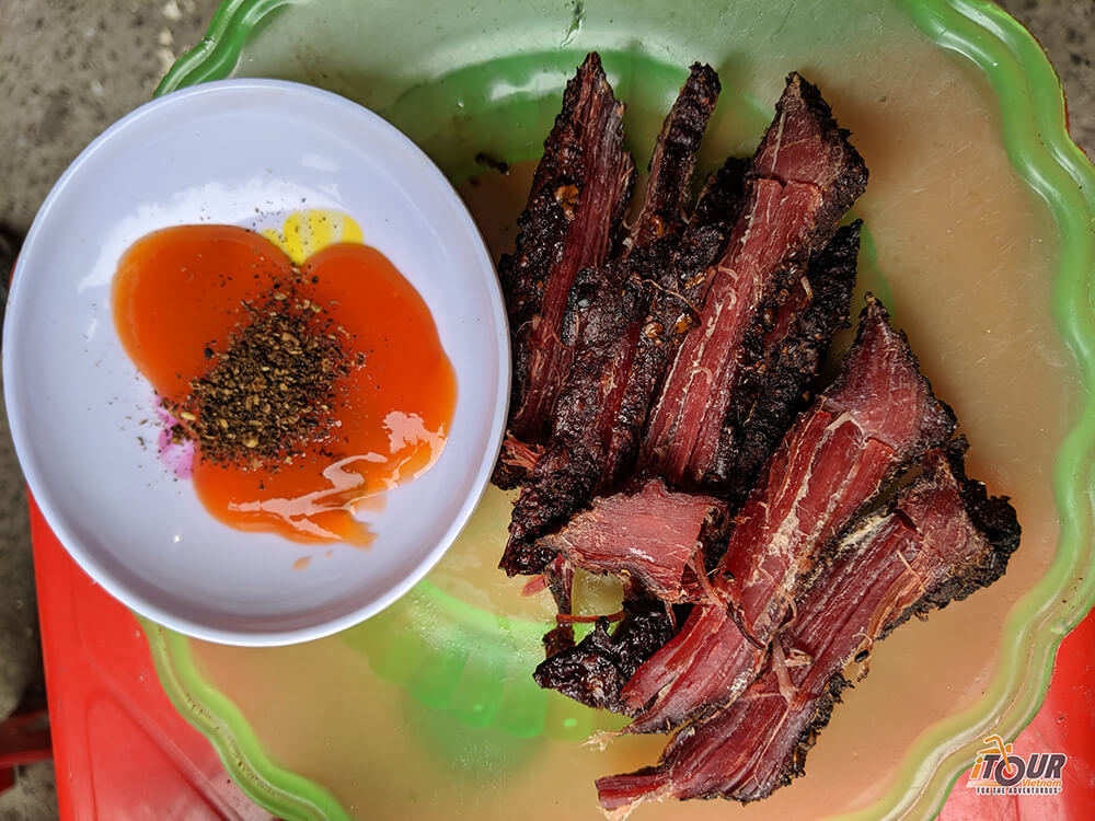 food tours northern vietnam smoked ox meat