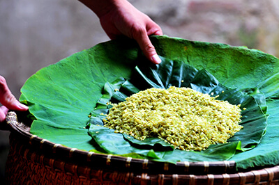 vietnamese food tour north region green sticky rice