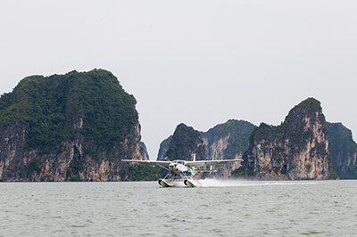how to get to halong bay seaplane