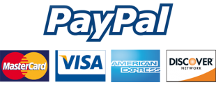 Accepted Payments - MasterCard, Visa, American Express, Discover Card